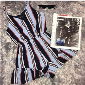Other - Striped romper frill hem
